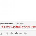 Gmail に .tar.bz2 が添付できない